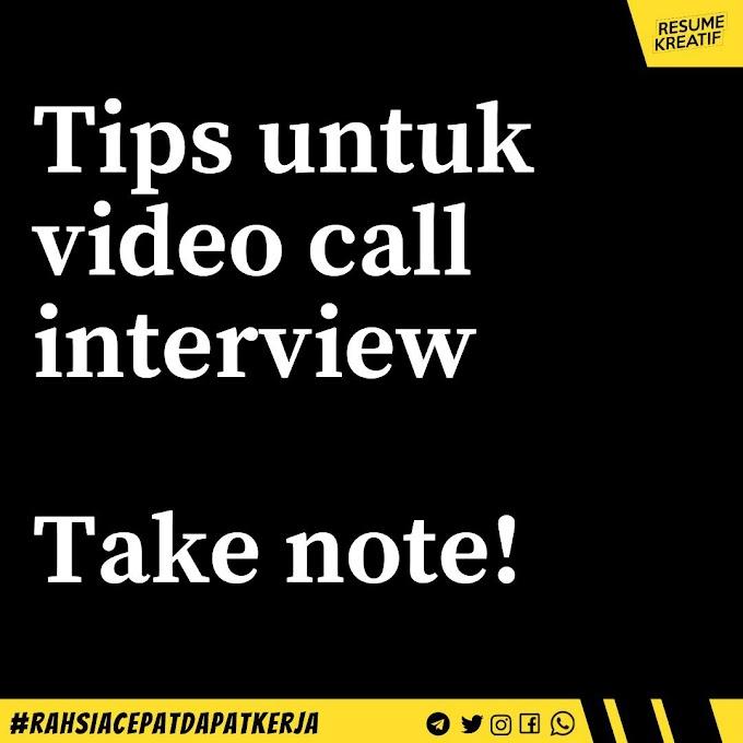 Tips Video Call Interview/ Temuduga Kerja dari Rumah ~ Wordless Wednesday