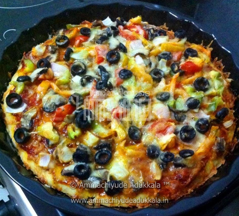 vegetable pizza by arathi pramod ingredients 1 for pizza dough ...