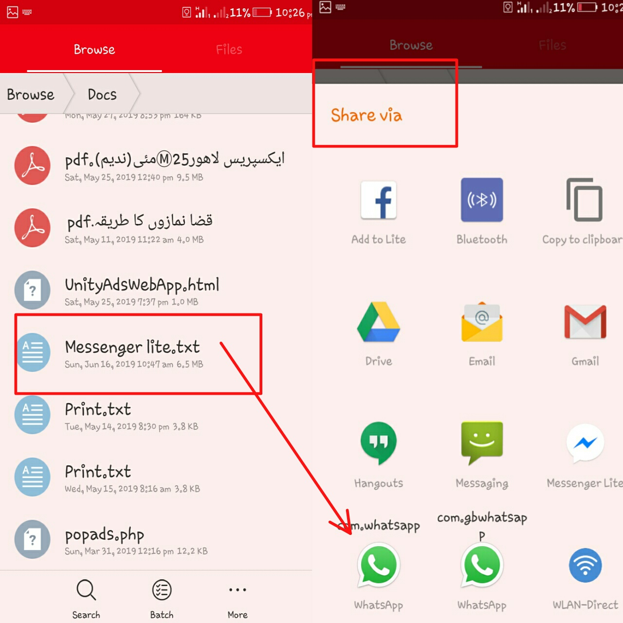 How To Share/Send Games And Apps Apk Trough WhatsApp | Full Guide