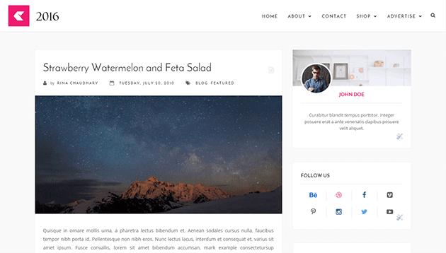 2016 бесплатная тема для blogger
