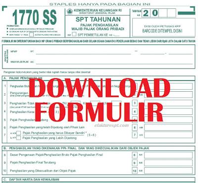download formulir 1770 SS