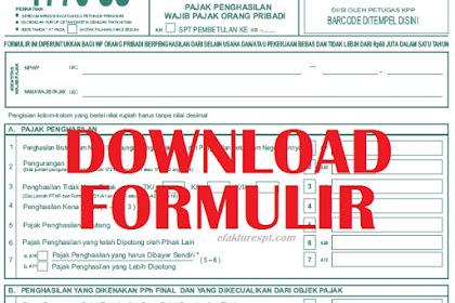 Download Formulir SPT 1770 SS Terbaru