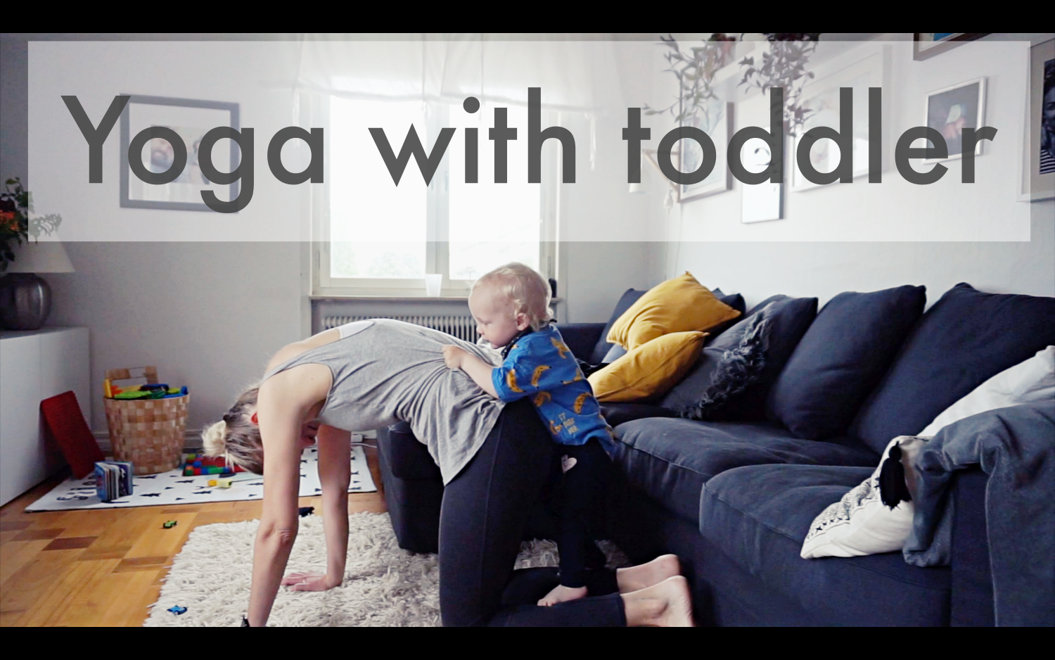 Yoga with toddler