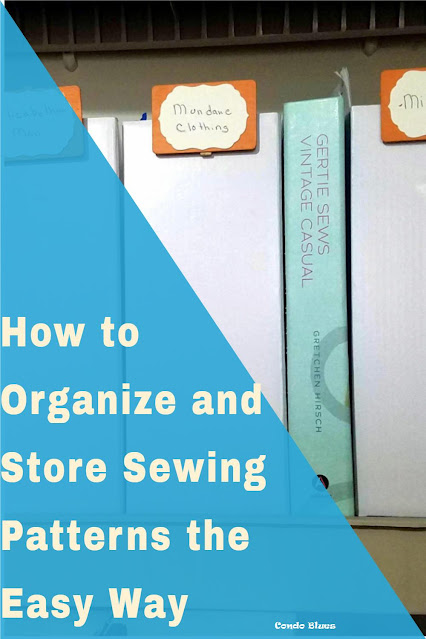 best sewing and craft pattern storage and organization idea
