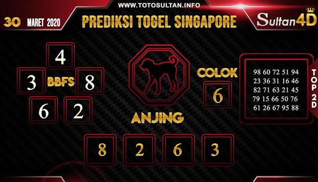 PREDIKSI TOGEL SINGAPORE SULTAN4D 30 MARET 2020