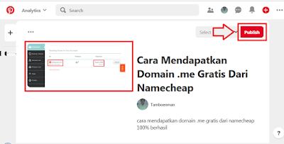 Membuat Pin Postingan Blog di Pinterest