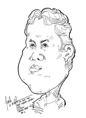Karikatur wajahku, karya mas Madjid