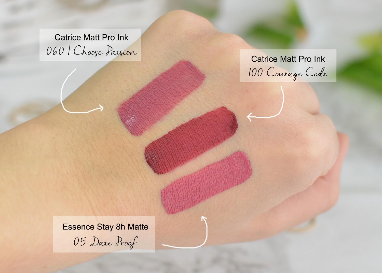 Essence Stay 8h Matte Liquid Lipstick 05 Date Proof Swatches