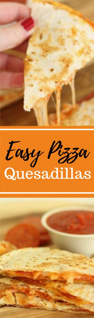 EASY PIZZA QUESADILLAS  #dinner