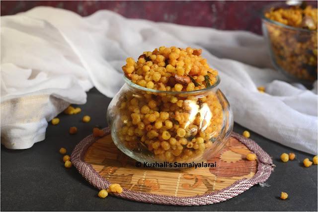 kara boondi, kaara boondi, how to make kara boondi, easy diwali snacks