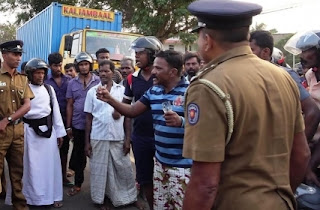 Protesters clash with Police in Kilinochchi