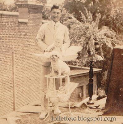 John Jr and Cutey plan unknown man 1917 NY https://jollettetc.blogspot.com