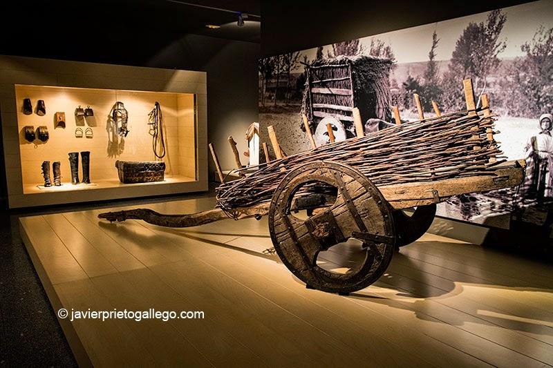 """Un carro """"chillón"""" en la sala dedicada al transporte del Museo Etnográfico Provincial de León. Mansilla de las Mulas. León. Castilla y León. España. © Javier Prieto Gallego"""