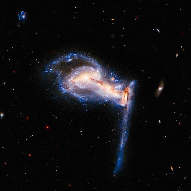 Hubble flagra briga de irmãos galácticos