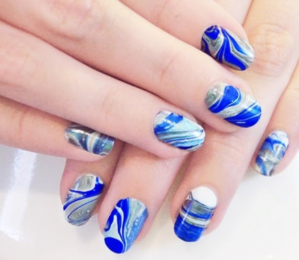 Marbling Nail Design Using Technique Water Big Solutions