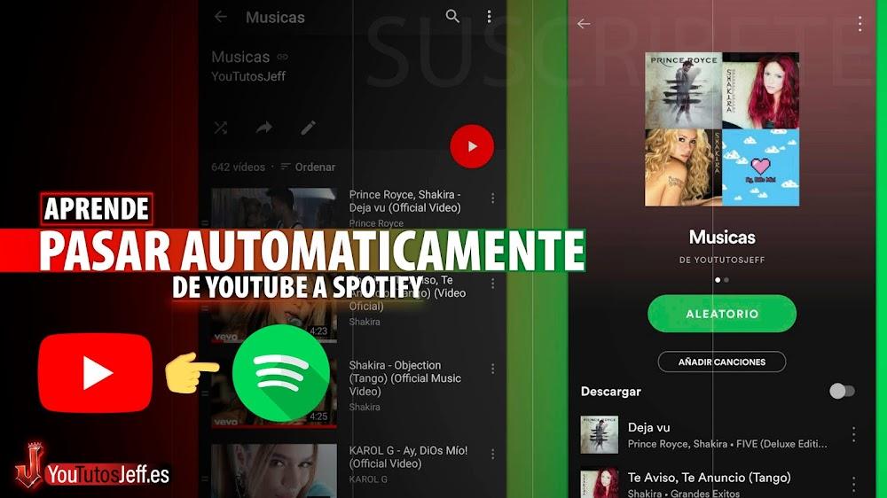 Pasar Listas de Reproduccion de Youtube a Spotify