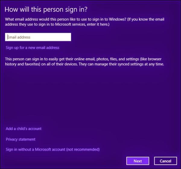 Hướng dẫn về tài khoản đăng nhập vào Windows 8.1