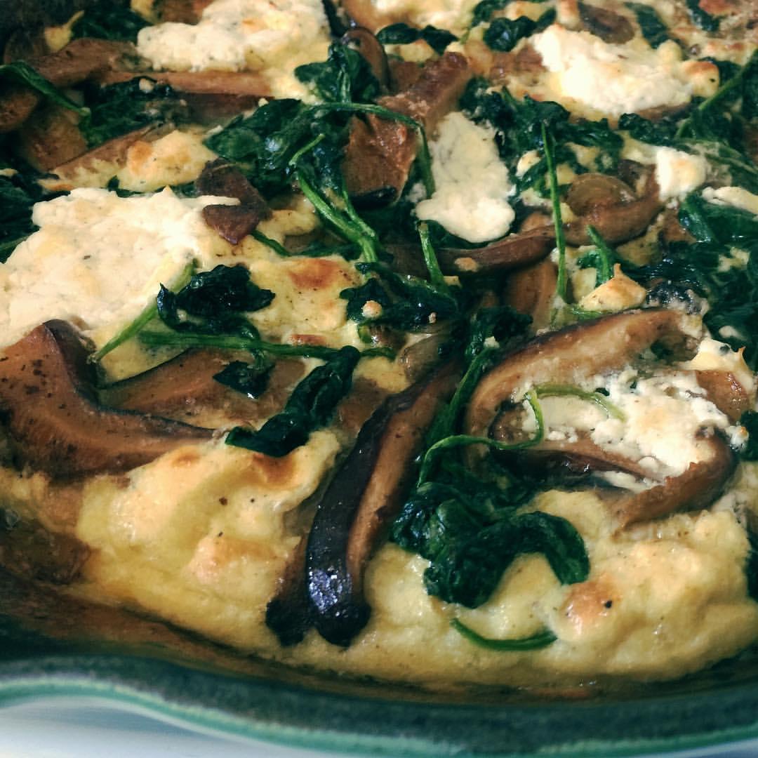 FOOD: Easy Skillet Spinach Mushroom Frittata