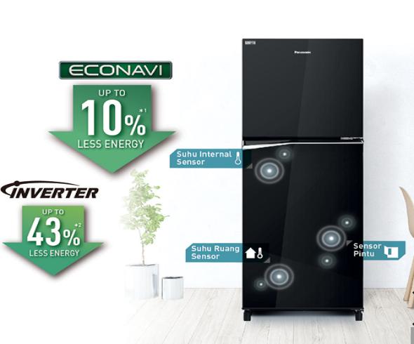 Mengenal Kelebihan Teknologi Inverter dan Sensor Econavi di Kulkas 2 Pintu
