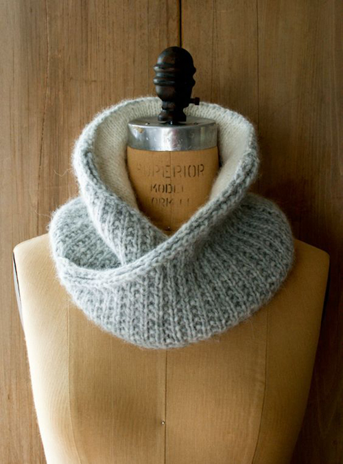 Shawl Collar Cowl - Free Knitting Pattern