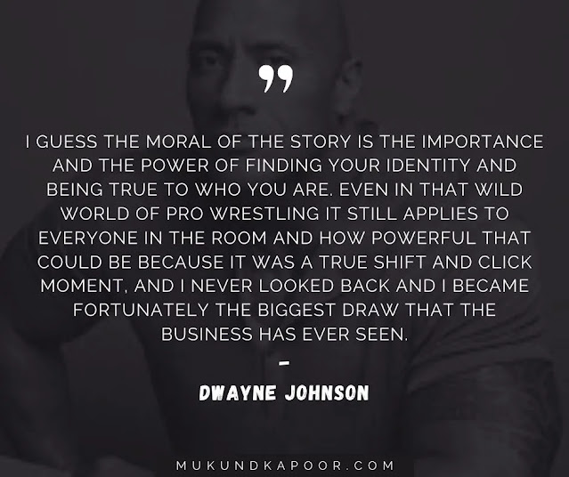 dwayne johnson greatness quote