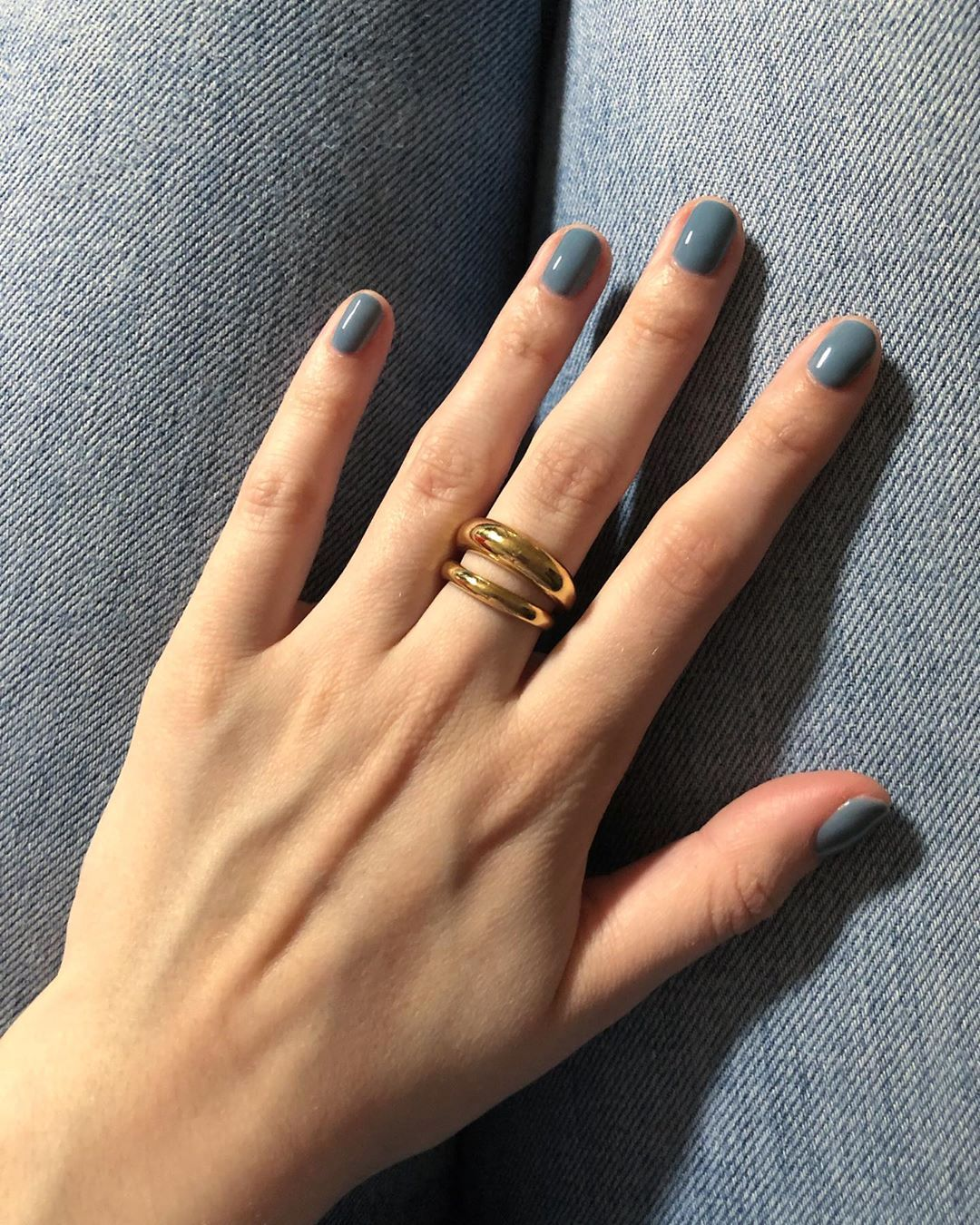 Instagram Nail Inspiration With Denim Blue Nail Polish