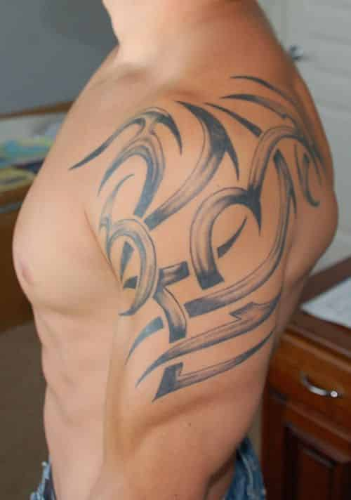 Tribal Shoulder Tattoos