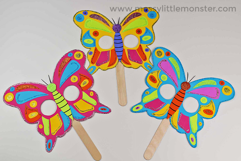 butterfly mask craft with free printable butterfly template - Butterfly Template Free