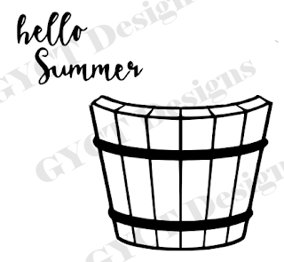 Hello Summer Vinyl Decor with Free SVG File