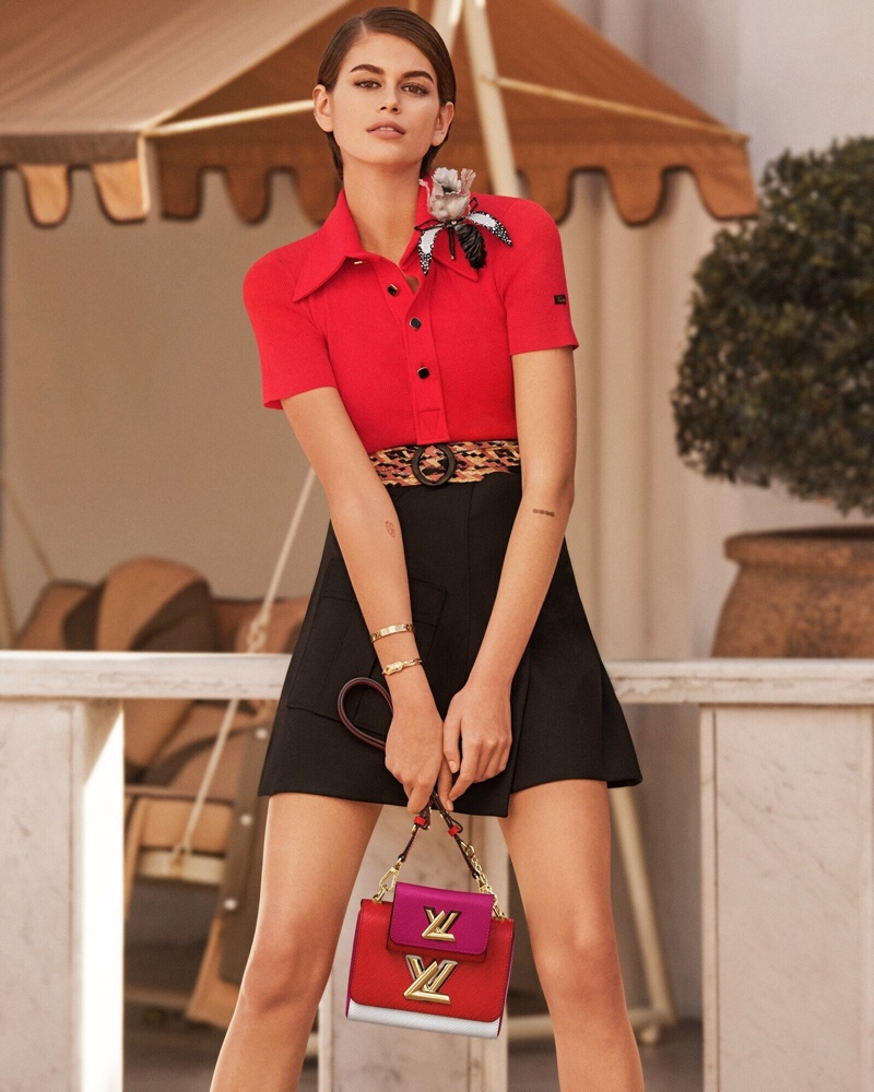 Kaia Gerber lands Louis Vuitton Twist handbag spring 2020 campaign