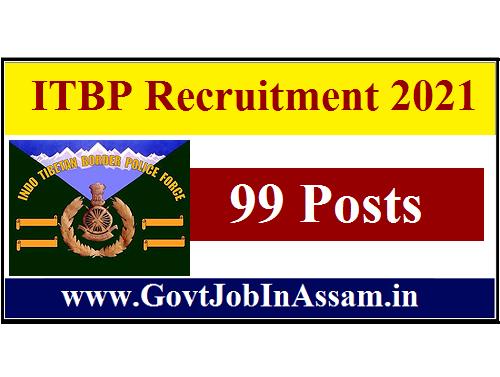 ITBP Recruitment 2021 :: Walk-In 99 GDMO & Specialist Vacancy