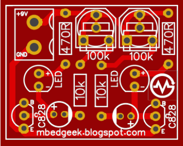 PCB TOP Astable Multivibrator