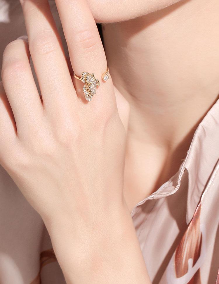 華麗風翩翩開口式戒指