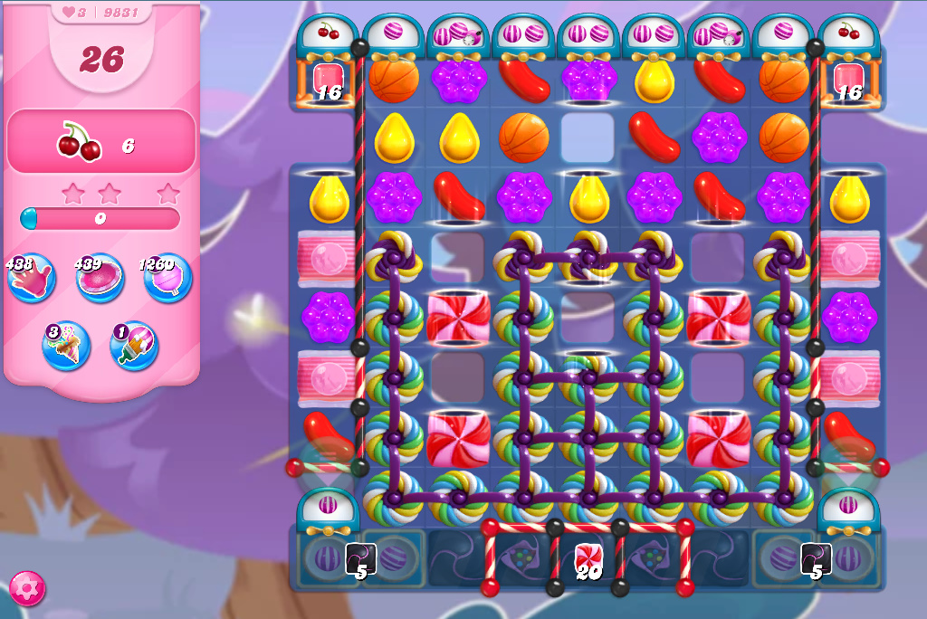 Candy Crush Saga level 9831