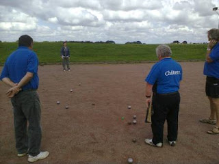 Playing Pétanque in the Luton Community Games
