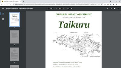 Shelly Bay Cultural Assessment document