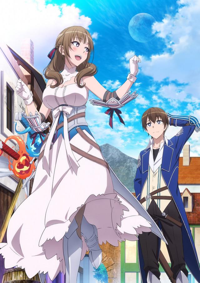Póster promocional del anime Tsujou Kogeki ga Zentai Kgeki de Ni-kai Kogeki no Okaa-san wa Suki desuka?