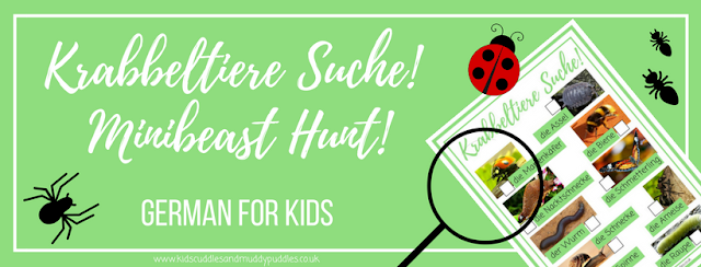 German for Kids: Krabbeltiere Suche! - Minibeast Hunt!
