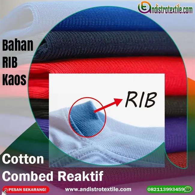Jual Bahan Rib Kaos Cotton Combed 30s, 24s