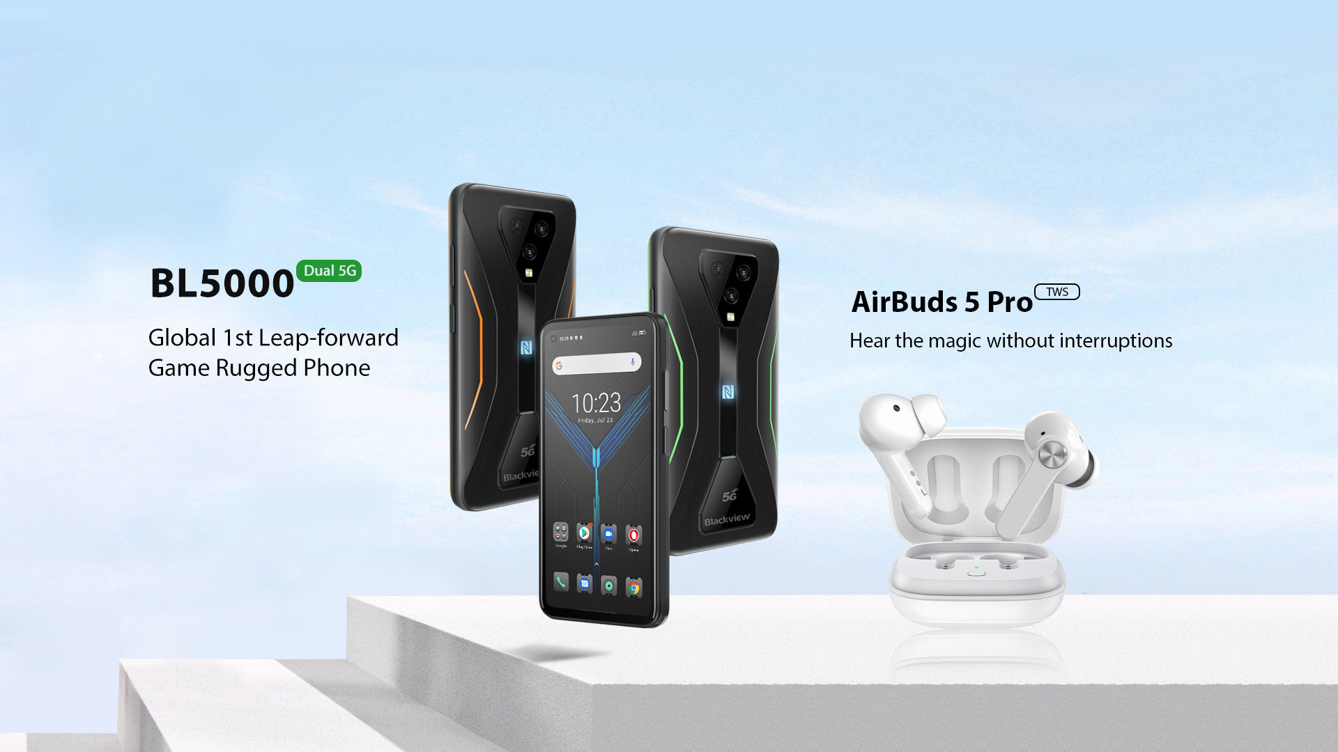 Blackview launches 2021 flagship game rugged phone and TWS earbuds -- BL5000 and AirBuds 5 Pro with powerful features