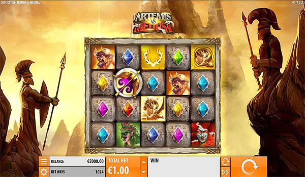 Main Slot Gratis Indonesia - Artemis Vs Medusa (Quickspin)