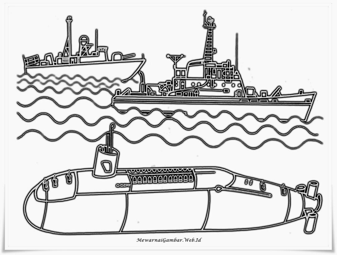 Ahmedatheism Gambar Mewarnai Kapal Perang
