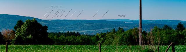 Bieszczady z Gębiczyny- fragment większej panoramy.