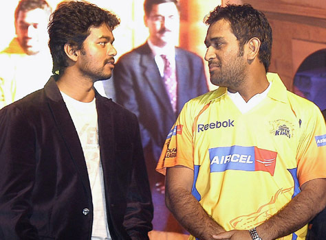 Ilayathalapathy Vijay And Dhoni