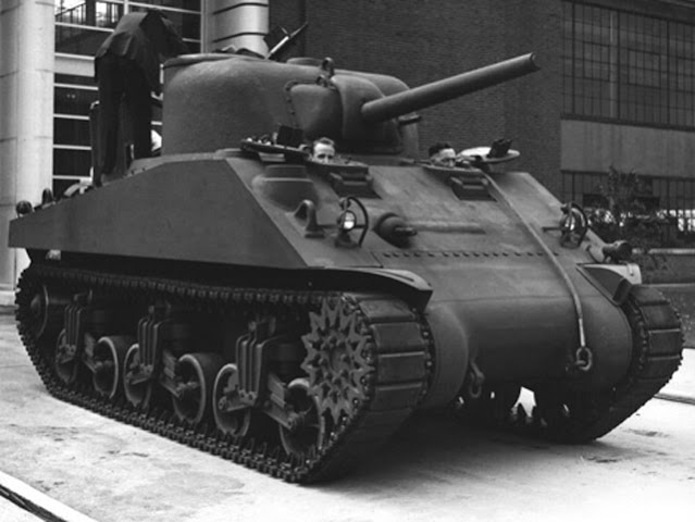 The M4A3 tank, introduced on 13 May 1942 worldwartwo.filminspector.com