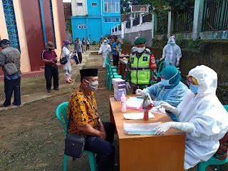 Serentak, Masjid Besar di 47 Kecamatan di Kabupaten Sukabumi Rapid Test Massal