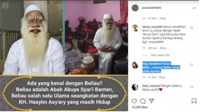 Seangkatan Kiai Hasyim Asy'ari, Ulama Banten Berusia 154 Tahun Ini Hebohkan Warga