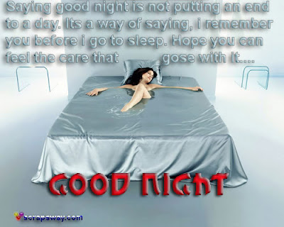 saying funny good night is not putting an end to a day