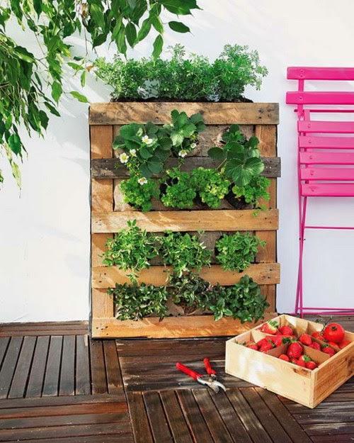Le carnet de janane un jardin vertical en palette - Jardin vertical interieur ...