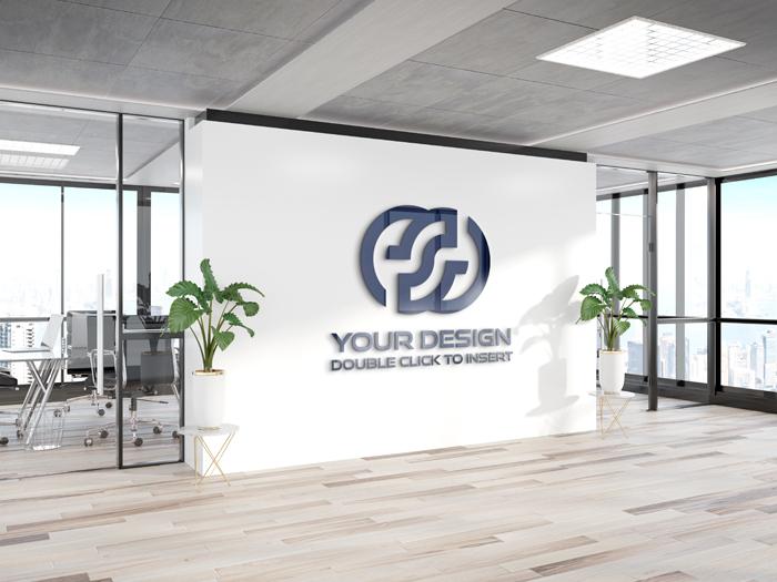 Logo Office Wall Mockup
